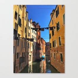 Laundry Day in Venice Canvas Print