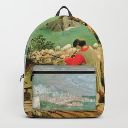 Landscape With The Fall Of Icarus Painting Pieter Bruegel The Elder Backpack