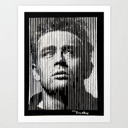 James Dean Papercut Art Print