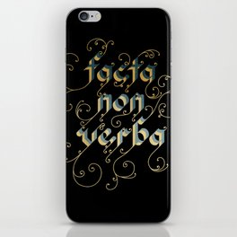 Actions speak louder than words iPhone Skin