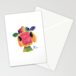Nosey Cow ' BRIDGET ' by Shirley MacArthr Stationery Cards