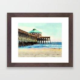 Folly Beach Pier - Folly Beach, SC - Charleston South Carolina Framed Art Print