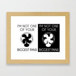 Biggest Fan -- Double Print Framed Art Print
