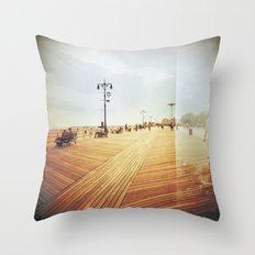 Coney Island #3 Throw Pillow