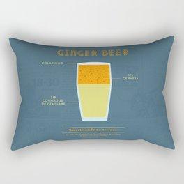 Ginger Beer - Cocktail by Juan Rectangular Pillow