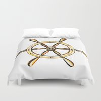 nautical Duvet Covers featuring Nautical by kristinesarleyart