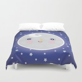 Happy Moon Man Duvet Cover