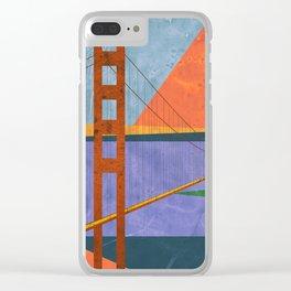 Golden Gate Bridge II Clear iPhone Case