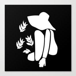 Femme au chapeau Canvas Print
