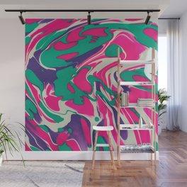 Cotton Candy Swirls Wall Mural