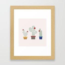 We are 3 cactus! Framed Art Print