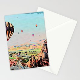 Cappadocia Otherworldly Ballooning Games Gas Event Mountain Country Stationery Cards