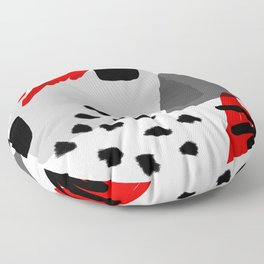Red, White and Black Floor Pillow