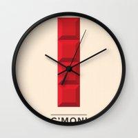 tetris Wall Clocks featuring Tetris by Eren Alkan
