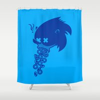 sonic Shower Curtains featuring Sonic by La Manette