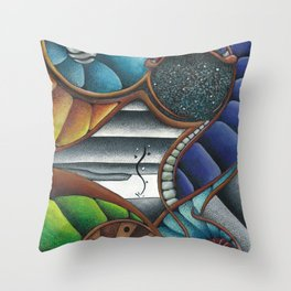 Color Fans Throw Pillow