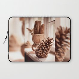 Large old dried cones on windowsill Laptop Sleeve