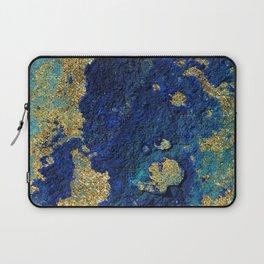 Indigo Teal and Gold Ocean Laptop Sleeve