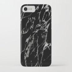Black magic marble iPhone 7 Slim Case