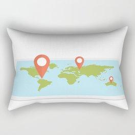 Maps Rectangular Pillow