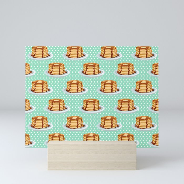 Pancakes & Dots Pattern Mini Art Print