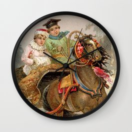 Horse and Couple Wall Clock