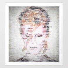 Bowie Typo Art Print