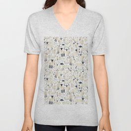 Watercolour Sheep Unisex V-Neck