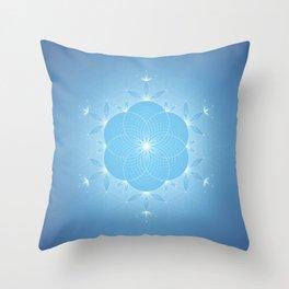 Hidden Existence | Sacred geometry Throw Pillow