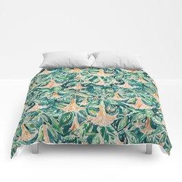 DATURA DREAMS Watercolor Floral Comforters
