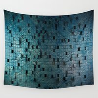 grid Wall Tapestries featuring Grid by Tayler Smith