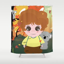 Koala and Child Shower Curtain