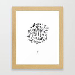 prison tatts Framed Art Print