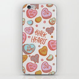 Black Hearts iPhone Skin