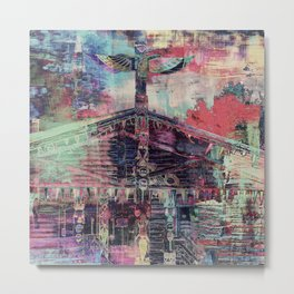 Totem Cabin Abstract - Multi Metal Print