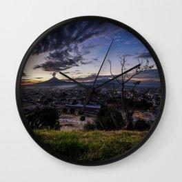 Cholula Sunset Wall Clock