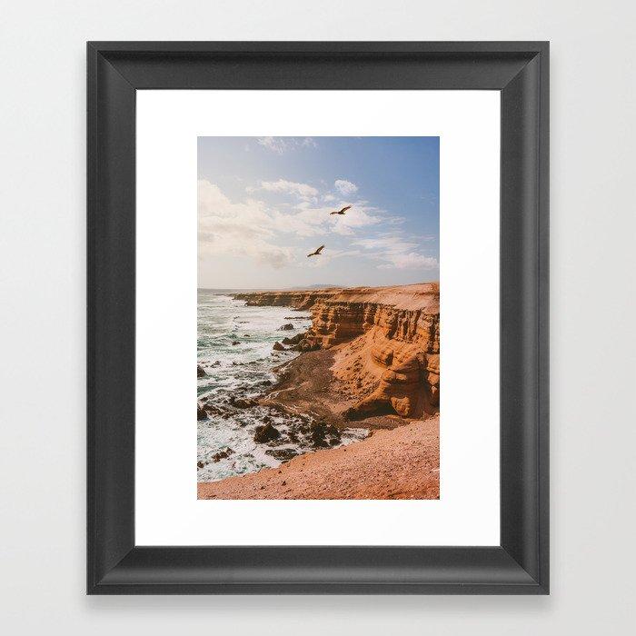 Chilean Coast Framed Art Print