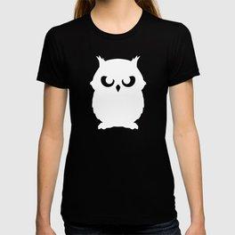 Shadow Owl Black White T-shirt