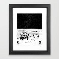 Turtle Surfari Framed Art Print