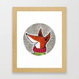 Happy Fox Framed Art Print