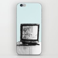 tv iPhone & iPod Skins featuring Television by Brontosaurus