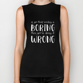 If You Think Reading Is Boring (Inverted) Biker Tank