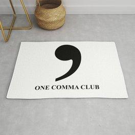 One Comma Club Rug