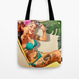 Beach Pin-up Tote Bag
