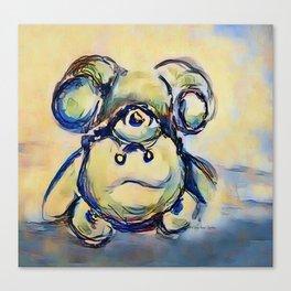 Tumbling Teddy Bear by CheyAnne Sexton Canvas Print