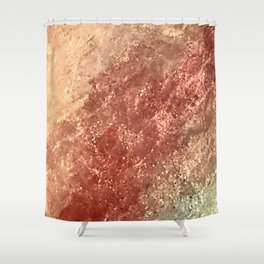 Crystallized Copper Trails Shower Curtain