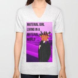 material girl Unisex V-Neck