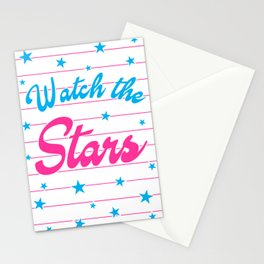 Watch The Stars, motivational, inspirational poster, Stationery Cards