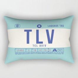 Baggage Tag B - TLV Tel Aviv Israel Rectangular Pillow
