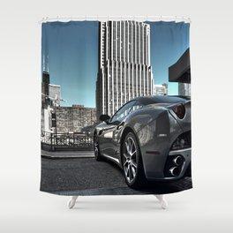Ferrari in Chicago Shower Curtain